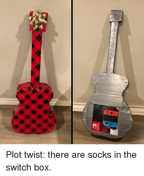 the switch: Plot twist: there are socks in the switch box.