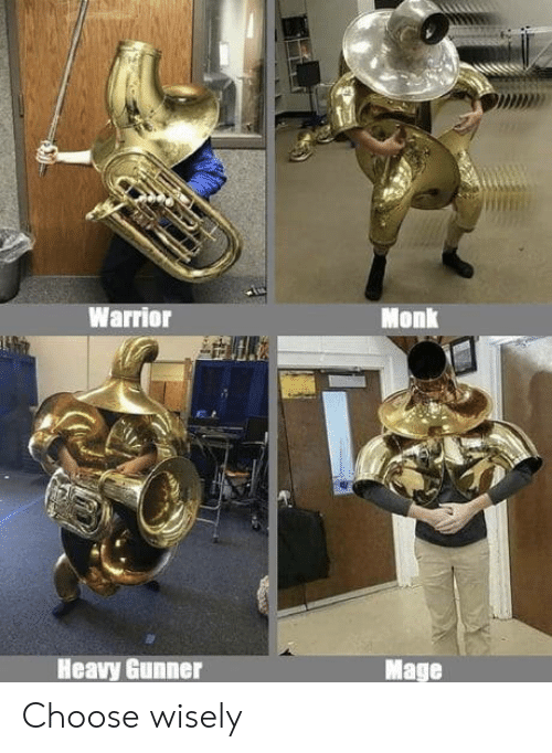 Warrior, Monk, and Mage: PMD2  Warrior  Monk  Heavy Gunner  Mage Choose wisely