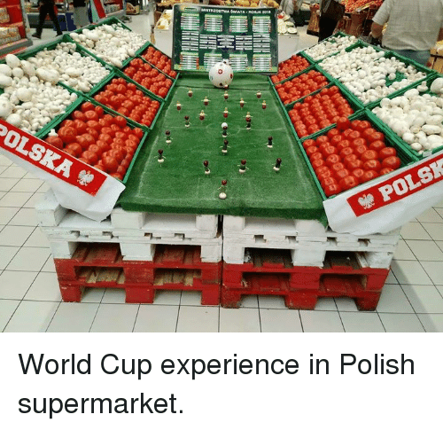 World Cup, World, and Poland: POL World Cup experience in Polish supermarket.