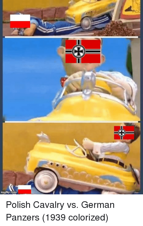 German, Polish, and Cavalry: Polish Cavalry vs. German Panzers (1939 colorized)