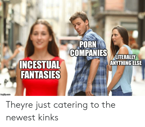 Porn, Kinks, and They: PORN  COPAS LITEINY  LITERALLY  ANYTHING ELSE  INCESTUAL  FANTASIES Theyre just catering to the newest kinks