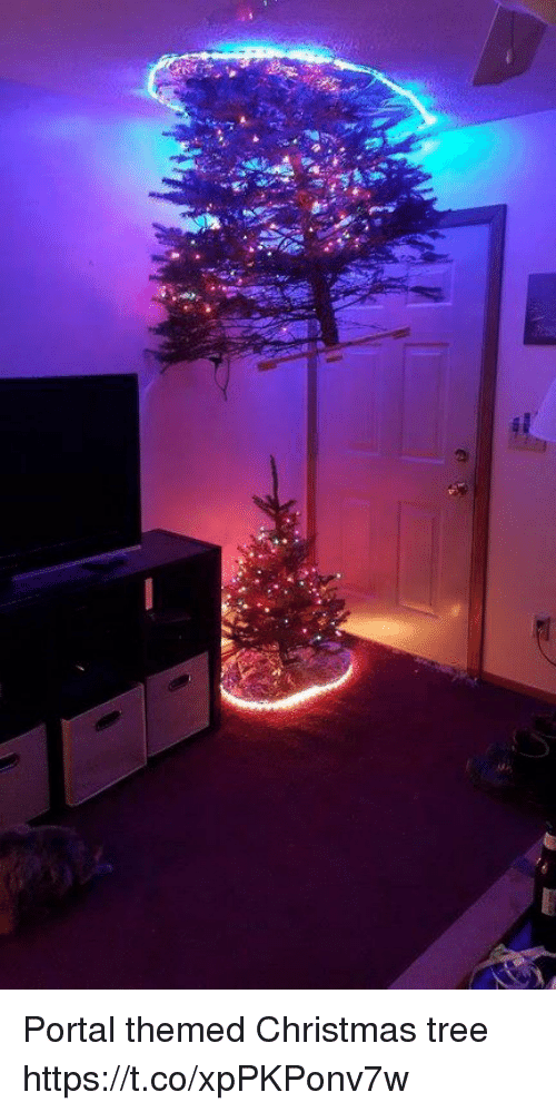 Christmas, Christmas Tree, and Portal: Portal themed Christmas tree https://t.co/xpPKPonv7w