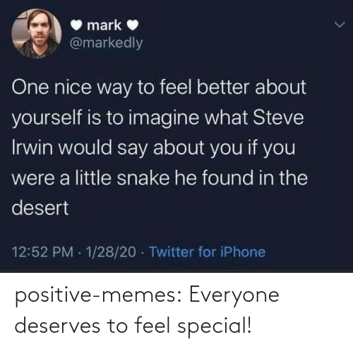Deserves: positive-memes: Everyone deserves to feel special!