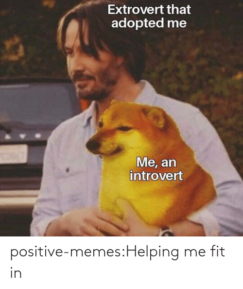 In Class: positive-memes:Helping me fit in