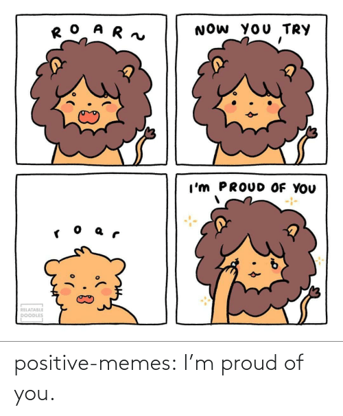 Im Proud: positive-memes:  I'm proud of you.
