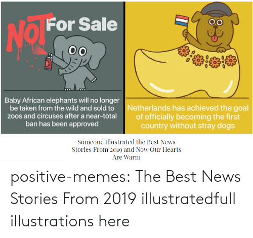 Hearts: positive-memes:    The Best News Stories From 2019 illustratedfull illustrations here