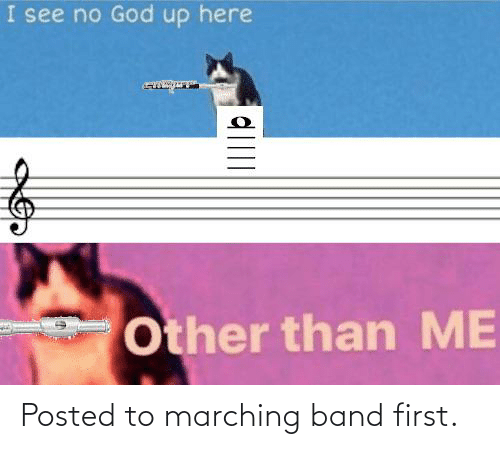 Marching: Posted to marching band first.