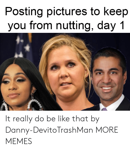 danny: Posting pictures to keep  you from nutting, day 1 It really do be like that by Danny-DevitoTrashMan MORE MEMES