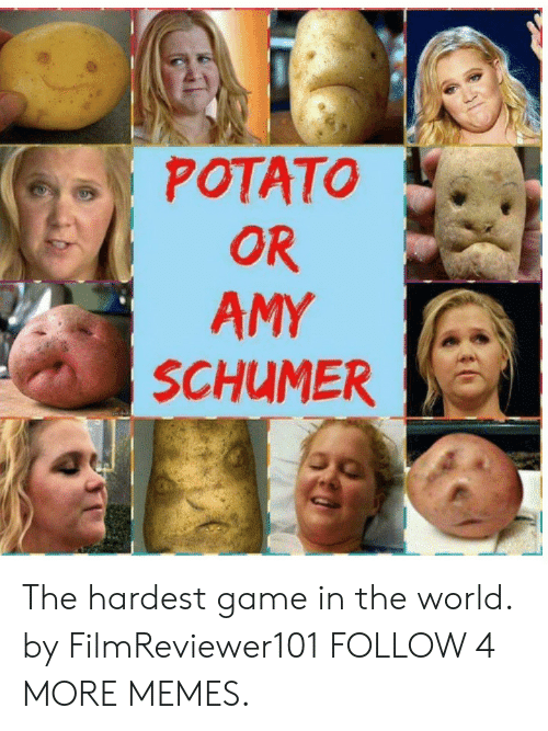 Amy Schumer, Dank, and Memes: POTATO  OR  AMY  SCHUMER The hardest game in the world. by FilmReviewer101 FOLLOW 4 MORE MEMES.