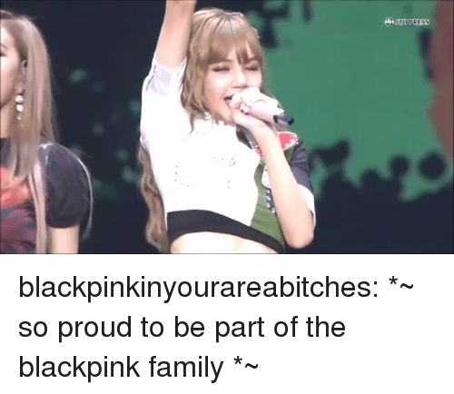 Family, Tumblr, and Blog: PRESS blackpinkinyourareabitches:  *~ so proud to be part of the blackpink family *~