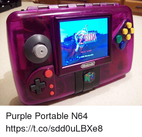 n64: PRESS START  Nintendo Purple Portable N64 https://t.co/sdd0uLBXe8