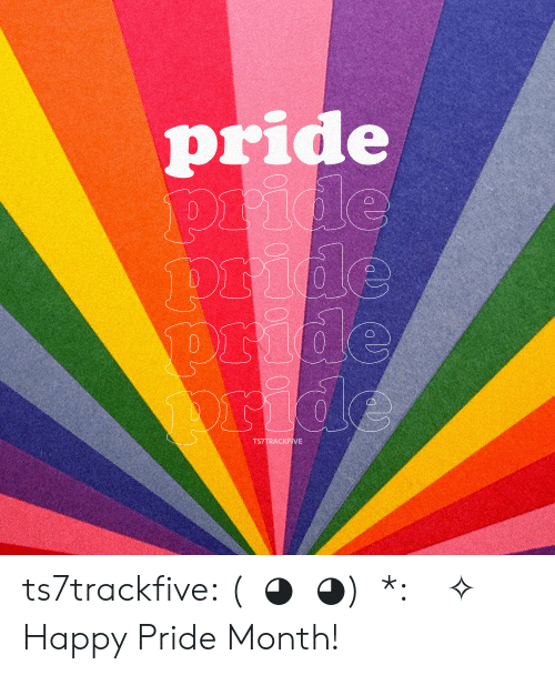 Target, Tumblr, and Blog: pride  pride  pride  pride  ride  TS7TRACKFIVE ts7trackfive: (ノ◕ヮ◕)ノ*:・゚✧ Happy Pride Month!