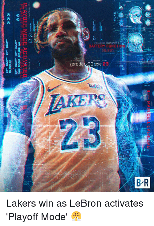 Los Angeles Lakers, Lebron, and Charge: PRIMARY CHARGE S  TATE  zerodark30exe  23 Lakers win as LeBron activates 'Playoff Mode' 😤