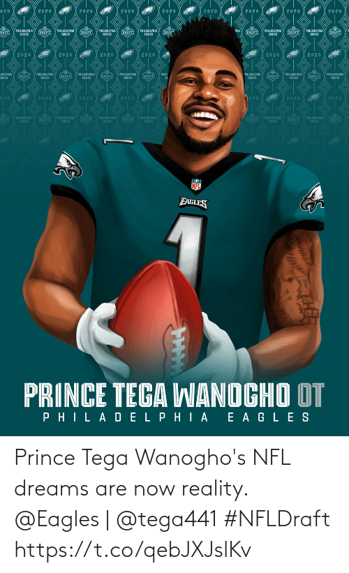 Reality: Prince Tega Wanogho's NFL dreams are now reality.  @Eagles | @tega441 #NFLDraft https://t.co/qebJXJslKv