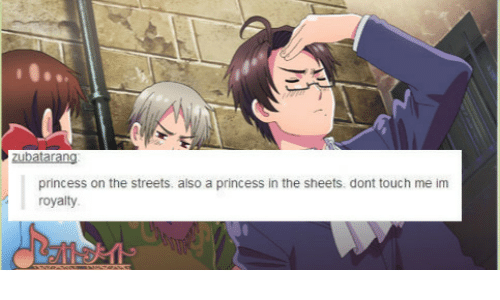 Dont Touch Me: princess on the streets. also a princess in the sheets. dont touch me im  royalty