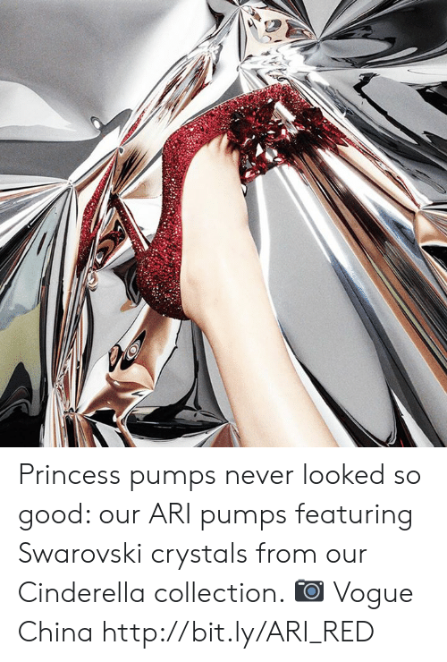 Cinderella : Princess pumps never looked so good: our ARI pumps featuring Swarovski crystals from our Cinderella collection. 📷 Vogue China http://bit.ly/ARI_RED