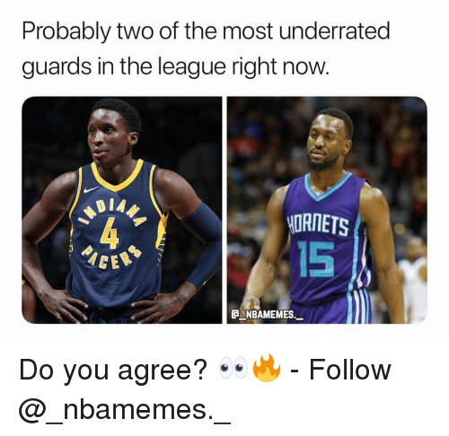 Memes, The League, and 🤖: Probably two of the most underrated  guards in the league right now  MORNETS  15  C NBAMEMES. Do you agree? 👀🔥 - Follow @_nbamemes._