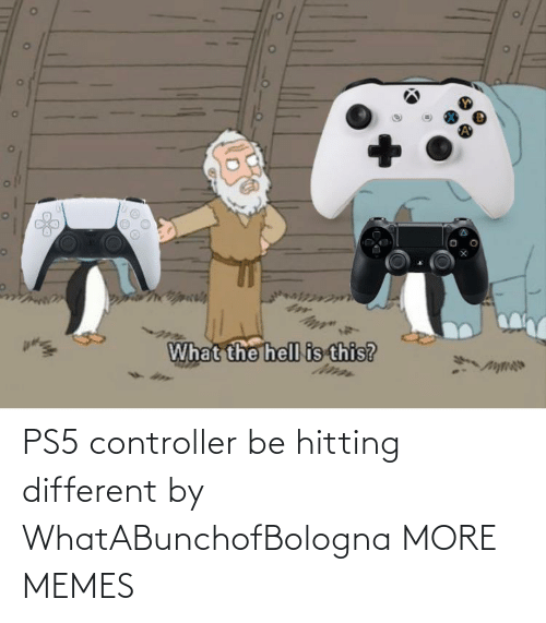 controller: PS5 controller be hitting different by WhatABunchofBologna MORE MEMES