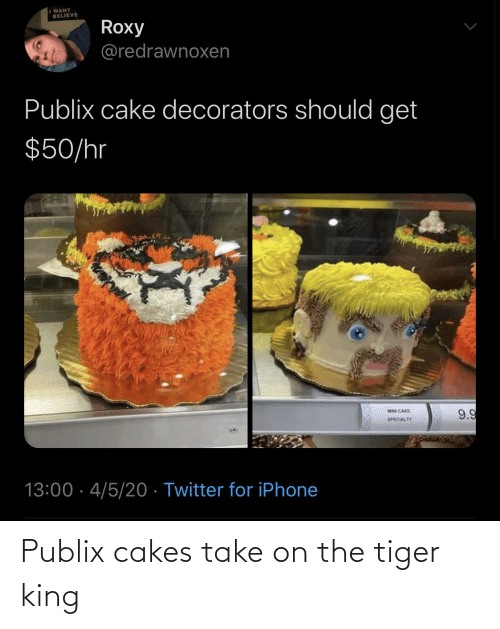 cakes: Publix cakes take on the tiger king