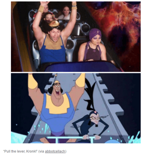 """Dank, Kronk, and 🤖: """"Pull the lever, Kronk! (via abbotcellach)"""