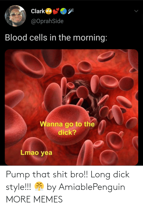 pump: Pump that shit bro!! Long dick style!!! 😤 by AmiablePenguin MORE MEMES