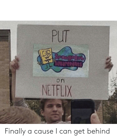 Netflix, Can, and Get: PUT  SPORgeBob  SOuarenants  on  NETFLIX Finally a cause I can get behind