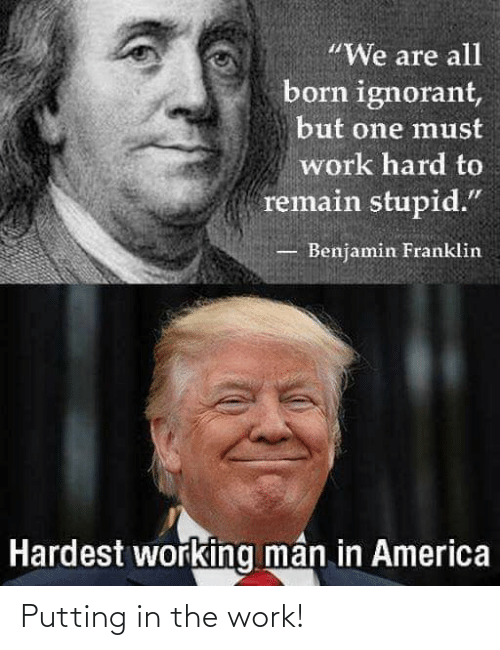 Conservative Memes: Putting in the work!