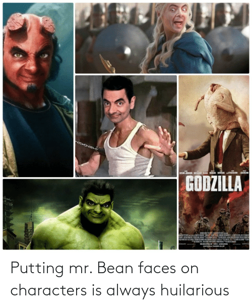 putting: Putting mr. Bean faces on characters is always huilarious