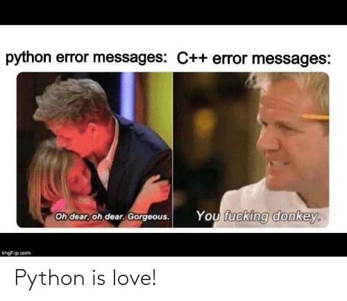 python: Python is love!