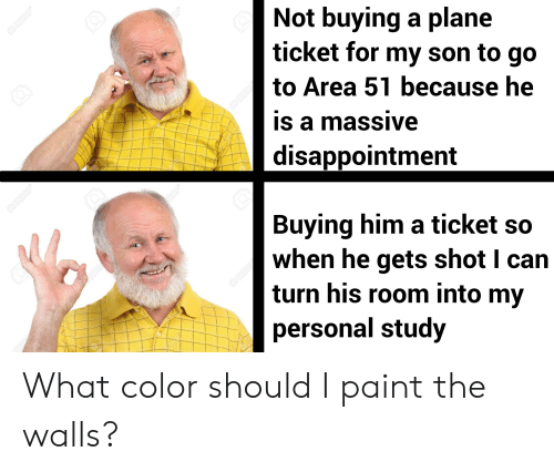 Paint, Dank Memes, and Personal: QI23RF  Not buying a plane  ticket for my son to go  to Area 51 because he  123 R  RF  is a massive  @123RF  disappointment  Buying him a ticket so  when he gets shot I can  turn his room into my  personal study  23R  0123 R  23R  GRE  123RF  a12RF  3RF What color should I paint the walls?