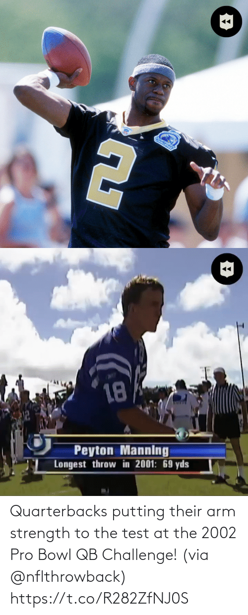 putting: Quarterbacks putting their arm strength to the test at the 2002 Pro Bowl QB Challenge! (via @nflthrowback) https://t.co/R282ZfNJ0S