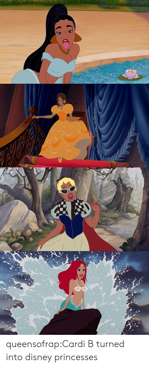 Disney, Target, and Tumblr: queensofrap:Cardi B turned  into disney princesses