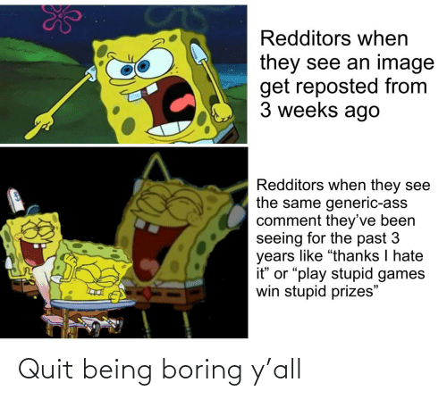 Ÿ˜˜: Quit being boring y'all