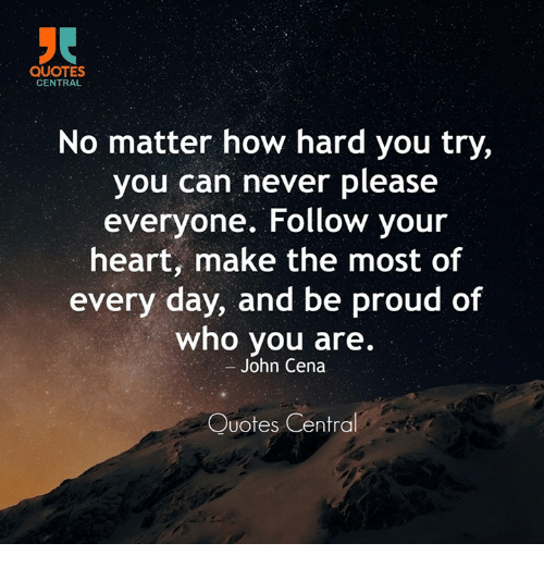 Quotes Central No Matter How Hard You Try You Can Never Please