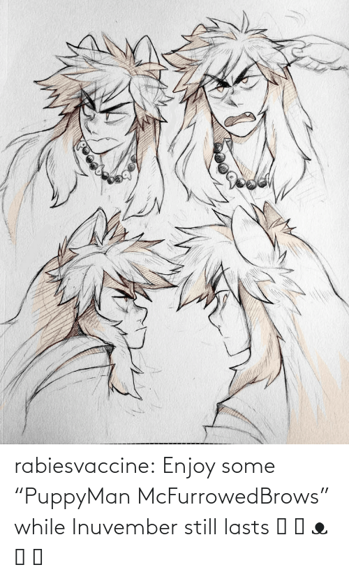 """While: rabiesvaccine:  Enjoy some """"PuppyMan McFurrowedBrows"""" while Inuvember still lasts ˵ ಠ ᴥ ಠ ˵"""