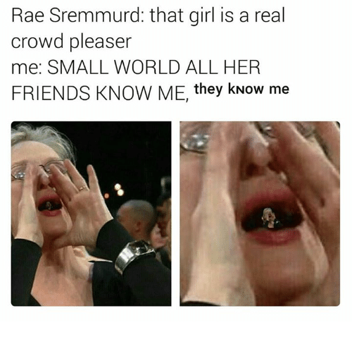 Rae Sremmurd: Rae Sremmurd: that girl is a real  crowd pleaser  me: SMALL WORLD ALL HER  FRIENDS KNOW ME, they kNow me