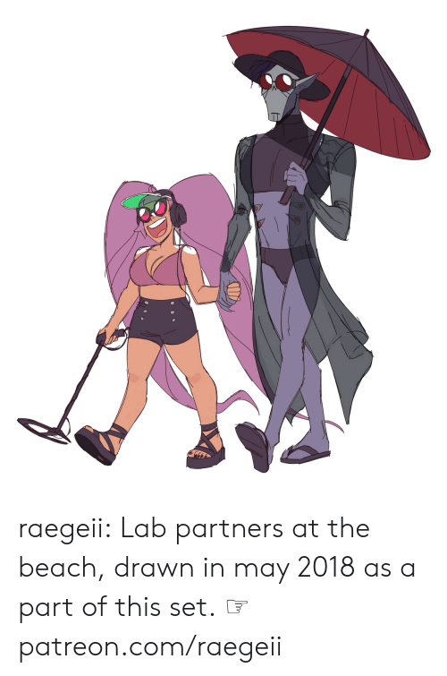 the beach: raegeii:  Lab partners at the beach, drawn in may 2018as a part of this set.  ☞ patreon.com/raegeii