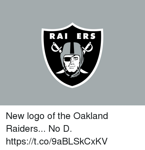Football, Nfl, and Oakland Raiders: RAI ERS New logo of the Oakland Raiders...  No D. https://t.co/9aBLSkCxKV