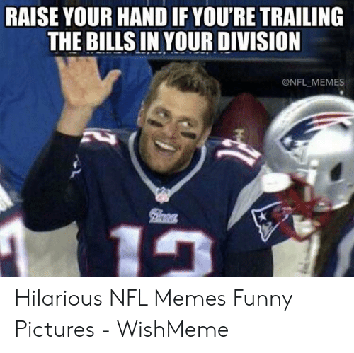 Wishmeme: RAISE YOUR HAND IF YOU'RE TRAILING  THE BILLS IN YOUR DIVISION  @NFL MEMES Hilarious NFL Memes Funny Pictures - WishMeme