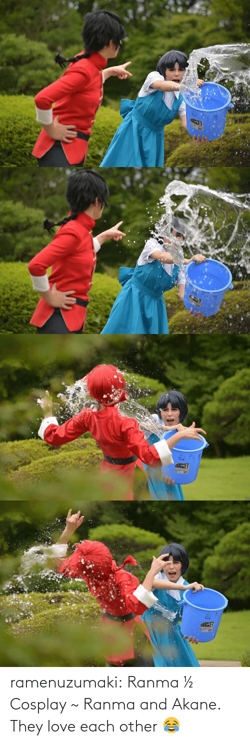 Other: ramenuzumaki:   Ranma ½ Cosplay ~ Ranma and Akane. They love each other 😂