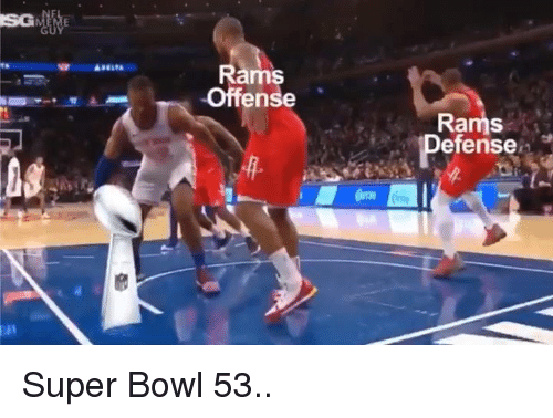 Nfl, Super Bowl, and Rams: Rams  Offense  Rams  Defense Super Bowl 53..
