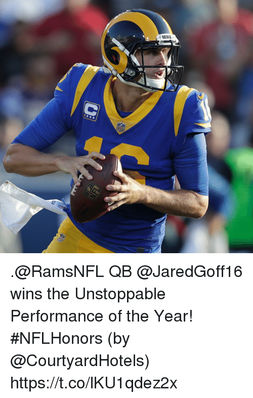 Memes, 🤖, and Unstoppable: .@RamsNFL QB @JaredGoff16 wins the Unstoppable Performance of the Year! #NFLHonors (by @CourtyardHotels) https://t.co/lKU1qdez2x