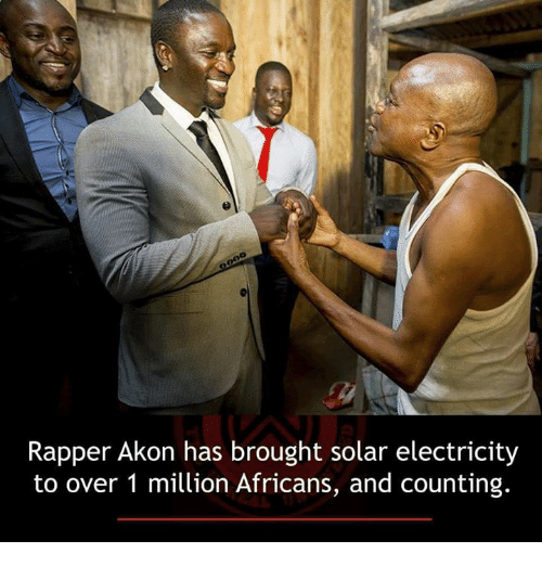 Akonator: Rapper Akon has brought solar electricity  to over 1 million Africans, and counting.
