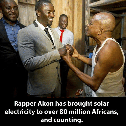 Akonator: Rapper Akon has brought solar  electricity to over 80 million Africans,  and counting.