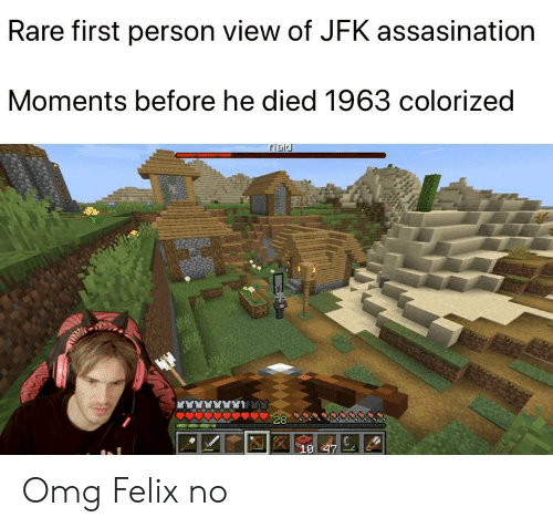 Omg, Jfk, and Rare: Rare first person view of JFK assasination  Moments before he died 1963 colorized  Paid  28  10 47 Omg Felix no