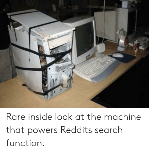 the machine: Rare inside look at the machine that powers Reddits search function.