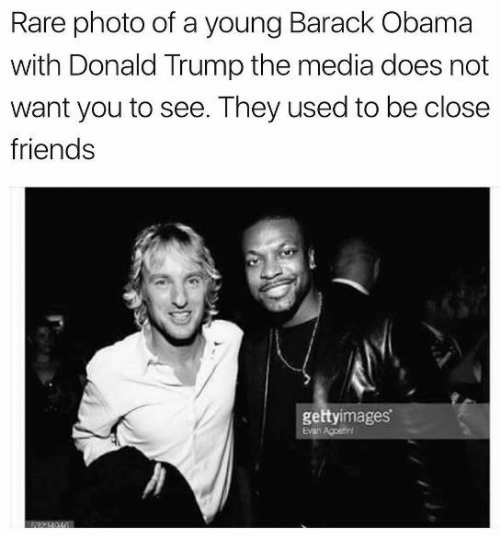Donald Trump, Friends, and Obama: Rare photo of a young Barack Obama  with Donald Trump the media does not  want you to see. They used to be close  friends  gettyimages