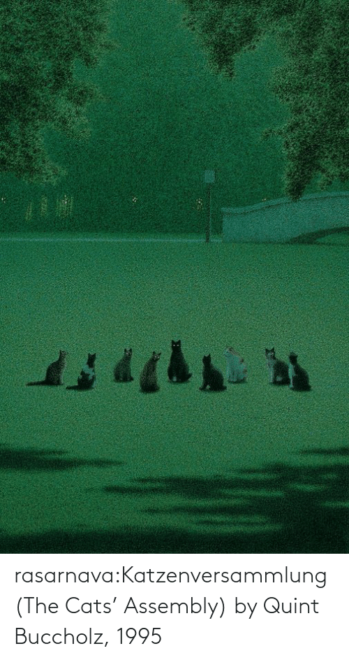 Http: rasarnava:Katzenversammlung (The Cats' Assembly) by Quint Buccholz, 1995