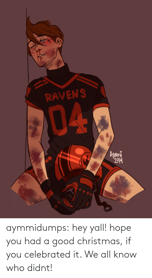Ravens: RAVENS  04  Ayani  2019 aymmidumps: hey yall! hope you had a good christmas, if you celebrated it. We all know who didnt!