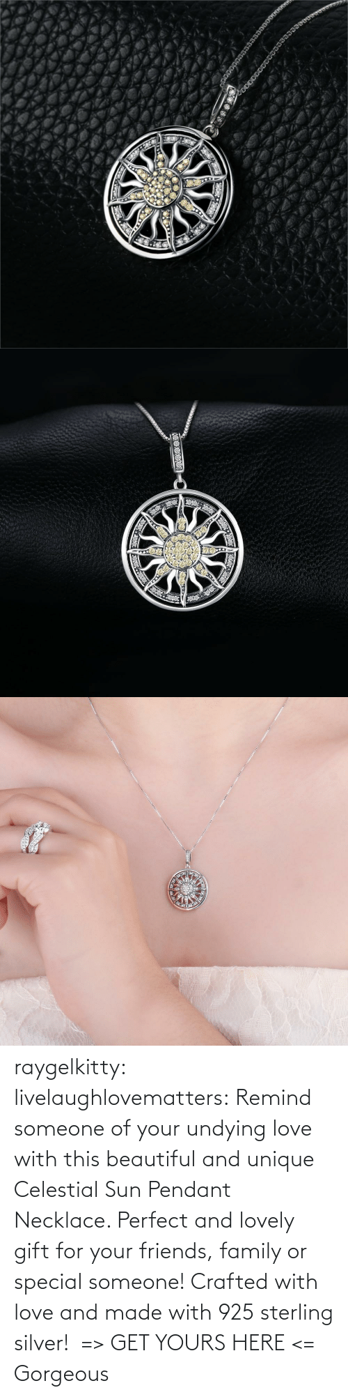 beautiful: raygelkitty:  livelaughlovematters: Remind someone of your undying love with this beautiful and unique Celestial Sun Pendant Necklace. Perfect and lovely gift for your friends, family or special someone! Crafted with love and made with 925 sterling silver!  => GET YOURS HERE <=    Gorgeous